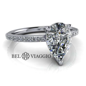 Best Moissanite Pear Engagement Ring Products on Wanelo 9a70b354b177