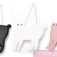 SYNDROME | Cat Clutch Purse with gold chain | Online Store Powered by Storenvy