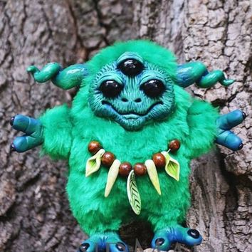 "Home decore ""Green forest creature"""