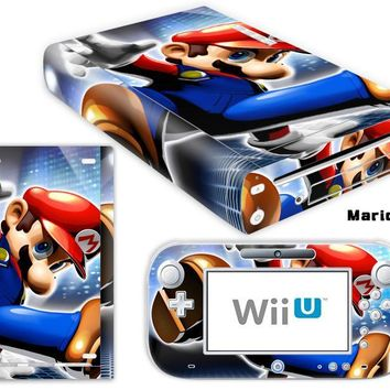 Super Mario party nes switch  Printed Vinyl Cover Decal For WiiU Skin Sticker For Nintendo Wii U Console & Controller Skins AT_80_8
