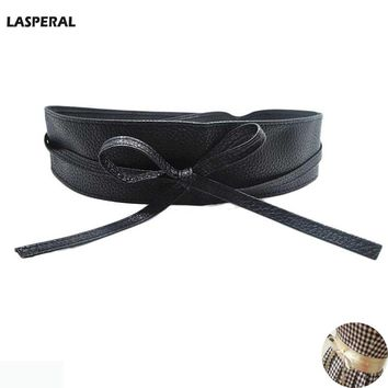 Women Belts Pu Leather Bow Waistband Long Cincture For Women Dress Clothing Decoration New Girl Belts