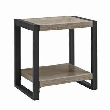 24 Inch Urban Blend Side Table - Driftwood/Black