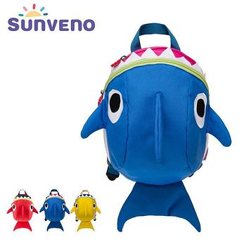 SUNVENO Cartoon Baby Harness Toddler Safety Backpack Anti-lost Strap Walking Backbag Child Safety Wristbands Walking Wings