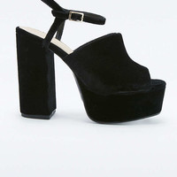 Phoebe Black Velvet Platform Shoes - Urban Outfitters