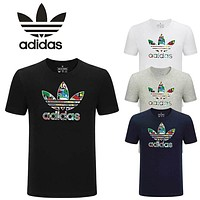 New Adidas Mens Colorful Logo Shirt Sleeve T shirt 100% COTTON TOP