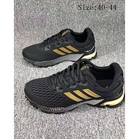 Adidas Marathon folder winter double thickening casual sports shoes F-SSRS-CJZX Black + gold logo