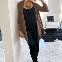 New Beginnings Jacket: Taupe
