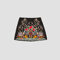 EMBROIDERED MINI SKIRTDETAILS