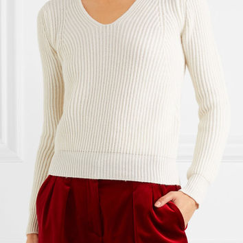 Max Mara - Ribbed wool and cashmere-blend sweater