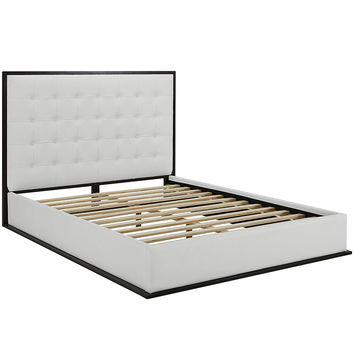 Madeline Queen Vinyl Bed Frame