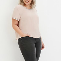 Plus Size Sequin Chiffon Top
