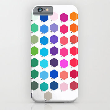 iPhone 6 Case - Hexagon Color Chart
