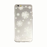iPhone 6 Case Snowflake iPhone 6 Plus Soft Case Winter Snow iPhone 6 Plus Slim Design Case Christmas 1097