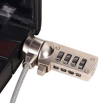4 Digit Security Password Computer Lock Anti-theft Chain For Laptop