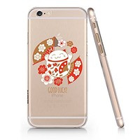 Japanese Lucky Fortune Cats Slim Iphone 6PLUS Case, Clear Iphone 6PLUS Hard Cover Case For Apple Iphone 6PLUS -Emerishop (iphone 6 plus)