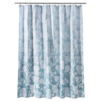 Threshold™ Ombre Floral Shower Curtain - Blue