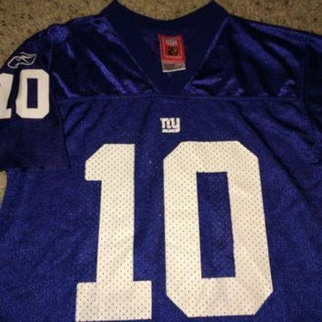 PEAPYD9 Sale!! Vintage Reebok NEW YORK GIANTS Football Jersey NfL youth shirt #10 Manning