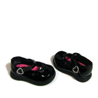 Kid Connection BLACK Patent Rhinestone Toddler girls  Mary Janes shoes size 2