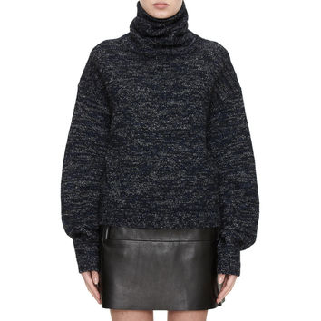 Acne Studios Dedicate Navy Oversized Turtleneck Sweater