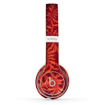 The Vector Fall Red Branches Skin Set for the Beats by Dre Solo 2 Wireless Headphones