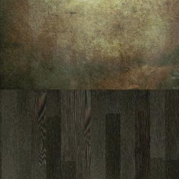 SAND CRACKED CEMENT POLISHED PEBBLE WOOD SWITCHOVER VINYL BACKDROP - 6x16 - LCCRS120 - LAST CALL