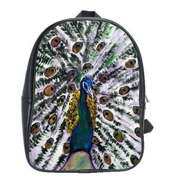 Back To School - Peacock Backpack - La Chevalier