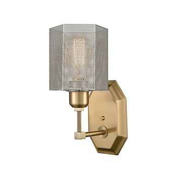 Compartir 1 Wall Sconce Polished Nickel/Satin Brass