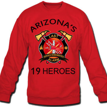 arizona's fire fighter Sweatshirt Crew Neck