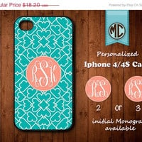 20% OFF Personalized iPhone 4 Case - Plastic iPhone case - Rubber iPhone case - Monogram iPhone case - iPhone 4s case - MC110