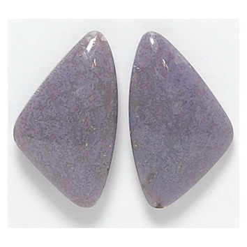 Purple Burro Creek Agate Semiprecious Stone Matched Cabochon Pair for Earrings from Arizona
