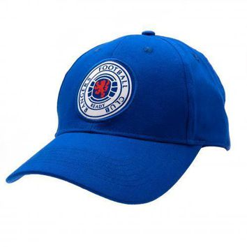 Rangers FC Baseball Cap Blue Crest Adult New Official Licensed Football Product
