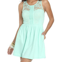 Ponte Lace Skater Dress | Shop Sale at Wet Seal