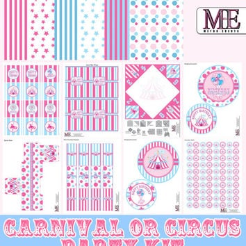 Carnival Birthday Party, Circus Birthday Party, Circus Decorations, Carnival Decorations, Carnival Party, Circus Party