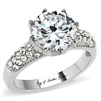 A Perfect 3.8CT Russian Lab Diamond Engagement Ring
