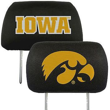 Iowa Hawkeyes 2-Pack Auto Car Truck Embroidered Headrest Covers