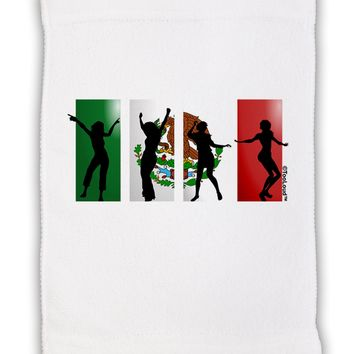 "Mexican Flag - Dancing Silhouettes Micro Terry Sport Towel 11""x8 by TooLoud"