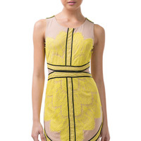 L&V Citrus Laced Dress