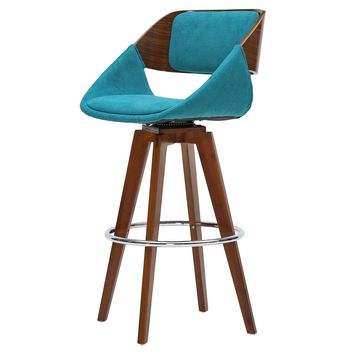 Cyprus Fabric Bar Stool Santorini Teal Green