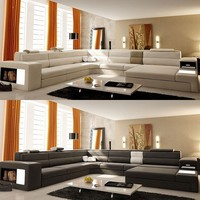 Large Modern Luxury Leather Sectional - Opulentitems.com