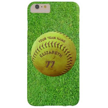 Softball Dirty Name Team Number Ball Phone Case Barely There iPhone 6 Plus Case