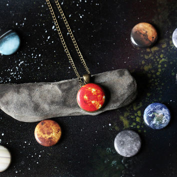 Reserved for Donice - Both Chains, Silver Interchangeable Solar System Necklace
