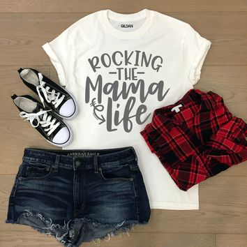 Rocking the Mama Life Softstyle T-Shirt
