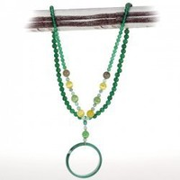 Stunning Crystal-clear Emerald Agate Beads Cat's eye Beads and Bracelet Pendant Long Single Strand Jewelry Charm Necklaces for Women