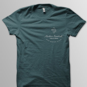 Modern Baseball - 'Keep Mantua Clean' Forest Green T-Shirt – SilverBulletMerch