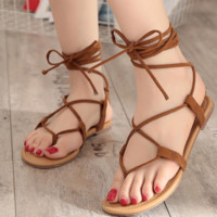 Hot style hot sale hollow strap leather flat flat cross strap cool boots