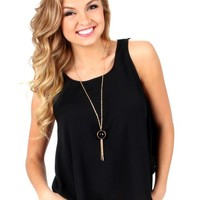 Night And Day Black Scalloped Tank Top | Monday Dress Boutique