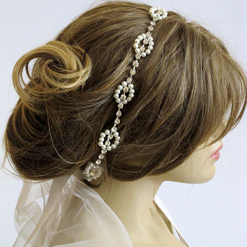 Rhinestone and Pearl headband, Wedding bridal headband, hairband, wedddings, Hair Accessory, hair accessories, Headpieces, headpiece, gift