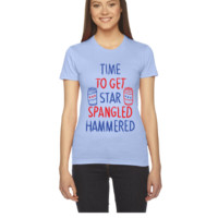 time to get star spangled hammered - Women's Tee