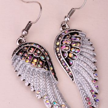 Yacq Rock Zinc Alloy Crystal Drop Earrings Women Ec23