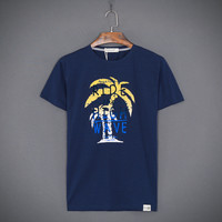 Short Sleeve Round-neck Men Casual Beach T-shirts [10510792387]